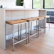 kitchen wood top kitchen counter stools backless with metal base