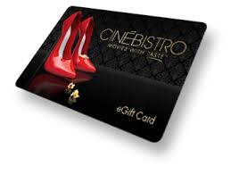 dinner and a gift card cinébistro gift cards
