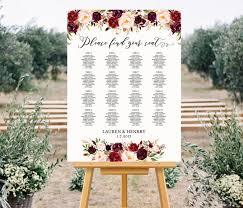 Wedding Seating Chart Template Printable Wedding Seating Chart Template Floral Seating