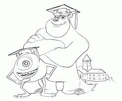 monsters university free coloring