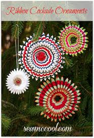 sew a ribbon cockade ornament or brooch sew mccool