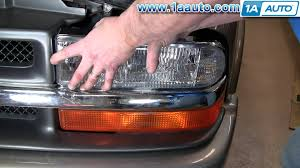how to install replace headlight chevy s10 pickup truck 98 03