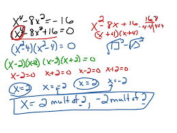 showme solving polynomials by factoring