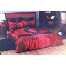 Pink And Black Duvet Set Chanel Bedding Set Satin Duvet Set Red Black On Sale