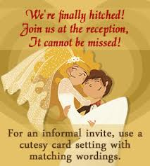 Invitation For Marriage The Best Wordings For Your Own Wedding Reception Invitations Only