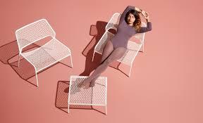 Chair Good Blu Dot Modern Blue Metal Dinin by Mesh Lounge Chair Metal Lounge Chair Blu Dot