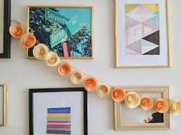 Design wall using paper flower festoon home decor ideas Best