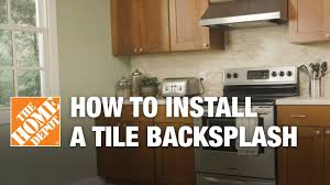 Installing Kitchen Tile Backsplash How To Install A Tile Backsplash Kitchen Ideas The Home Depot
