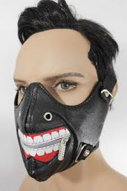 black faux leather mouth muzzle s u0026m rave goth new men halloween