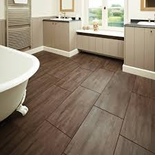 cool bathroom floor with laminate wood tiles also dark flooring