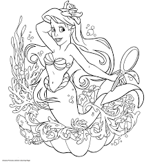 Download Coloring Pages Princess Ariel Coloring Pages Princess Of Disney Princess Ariel Coloring Pages