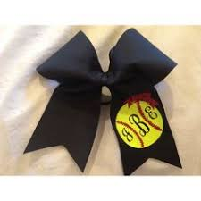 softball hair bows softball bow with your number approximately 6 by6 made with
