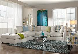 Rooms To Go Living Room Set Cindy Crawford Home Crosby Street Right White 6 Pc Sectional