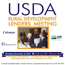 Usda Rual Development Coleman Report U2013 Usda Rural Development Lenders Meeting U2014 December