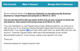 prepaid account amex nerfs the amex for target aft prepaid card doctor of credit