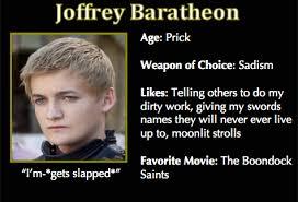 Meme Trading Cards - game of thrones trading cards joffrey baratheon asoiaf got