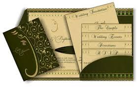 ganesh wedding invitations green gold ganesh email wedding invitation