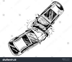 wrecked car clipart hand drawn car crash illustration auto stock vector 515445955