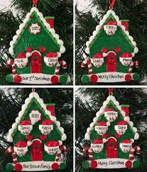 cane house family personalised christmas tree decoration