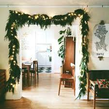 improvements indoor outdoor lighted christmas garland lighted christmas garland lit at buy now outdoor workfuly