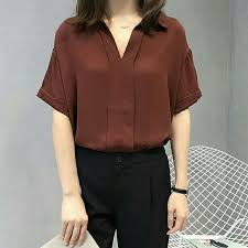 blouse wanita blouse wanita baju atasan vasel top elevenia