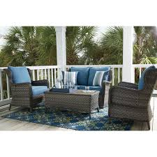 Patio Furniture Cleveland Ohio by Signature Design By Ashley Abbots Court Outdoor Conversation Set