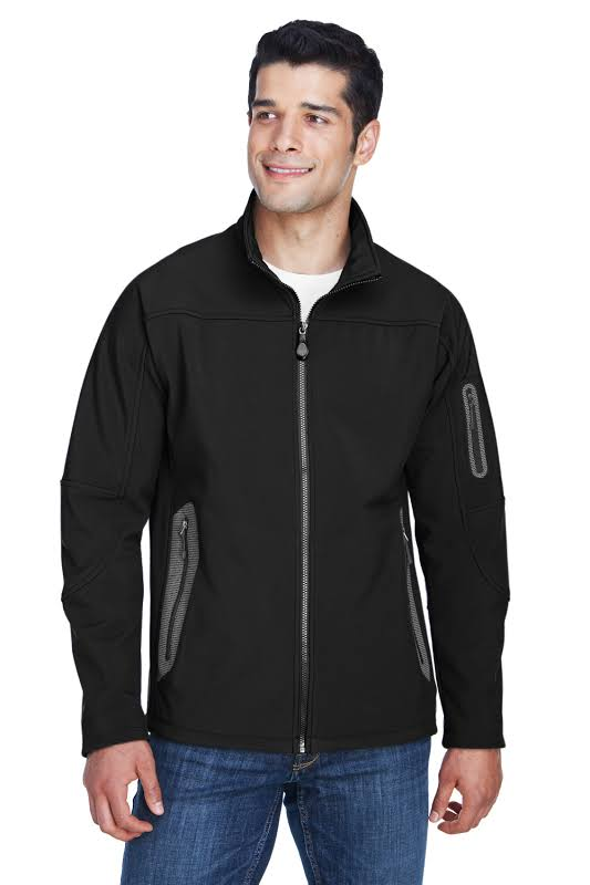 Three-Layer Fleece Bonded Soft Shell Technical Jacket 88138 Black L