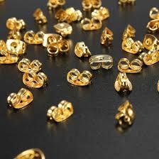 gold earring backs wholesale 50pcs gold plated butterfly earring backs stopper ear