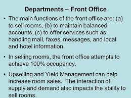 Front Desk Upselling Introducing Hospitality Ppt Download
