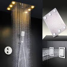 high temperature led light fixture shower head high pressure chuveiro light big rain water temperature