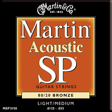 Light Guitar Strings by Martin Sp 80 20 Acoustic Guitar Strings Bronze Wound Custom