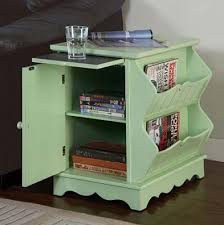 Storage End Table Magazine Cabinet End Table With Pull Out Shelf Home Interior