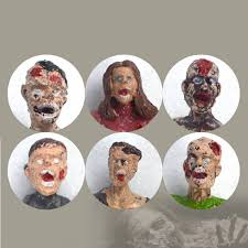 6pcs set walking dead corpses movie characters action zombie