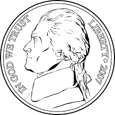portrait on a nickel clipart etc