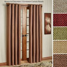 Basket Weave Brick Patio by Gloria Basket Weave Texture Grommet Curtain Panels