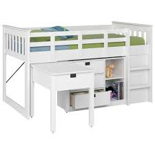 Low Loft Bunk Bed Deion Low Loft Bed With Storage Reviews Allmodern