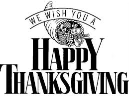 thanksgiving day clip black and white greetings wishes