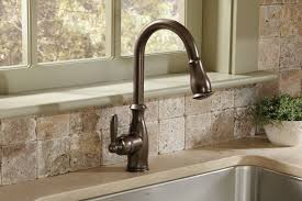 moen bronze kitchen faucet moen 7185orb brantford one handle high arc pulldown kitchen faucet