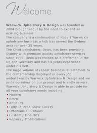 Warwick Upholstery Warwick Upholstery And Design