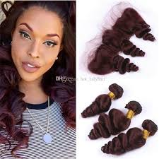 good hair for sew ins burgundy brazilian loose wave virgin hair 3 bundles with lace