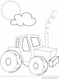 car is for trace line worksheets preschool crafts