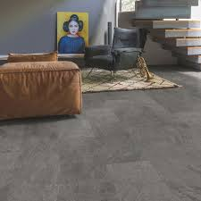 Laminate Flooring B Q Step Lima Grey Slate Effect Waterproof Luxury Vinyl Flooring Tile