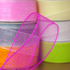 deco mesh ribbon deco mesh ribbon 2 1 2 w hot pink the lucky clover trading co