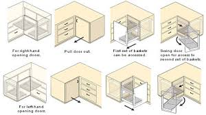 Corner Kitchen Cabinet Sizes Decor Blind Corner Cabinet For Smart Storage Ideas