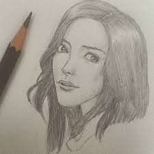 gallery pencil sketches of a girls face drawing art gallery