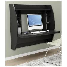 Small Black Computer Desk Black Floating Computer Desk For Small Space Quecasita