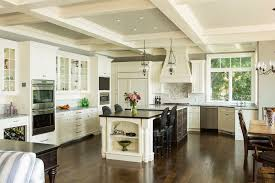 white kitchen family room interior design