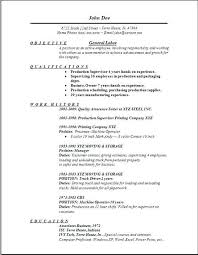First Resume Objective Resume Objectives Samples General First Class Generic Objective