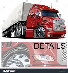 vector cartoon semi truck oneclick repaint stock vector 96756973