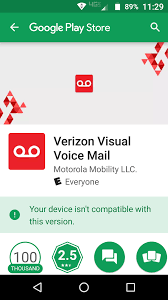 verizon visual voicemail android verizon visual voicemail crashes after july patch which is 7 1 1